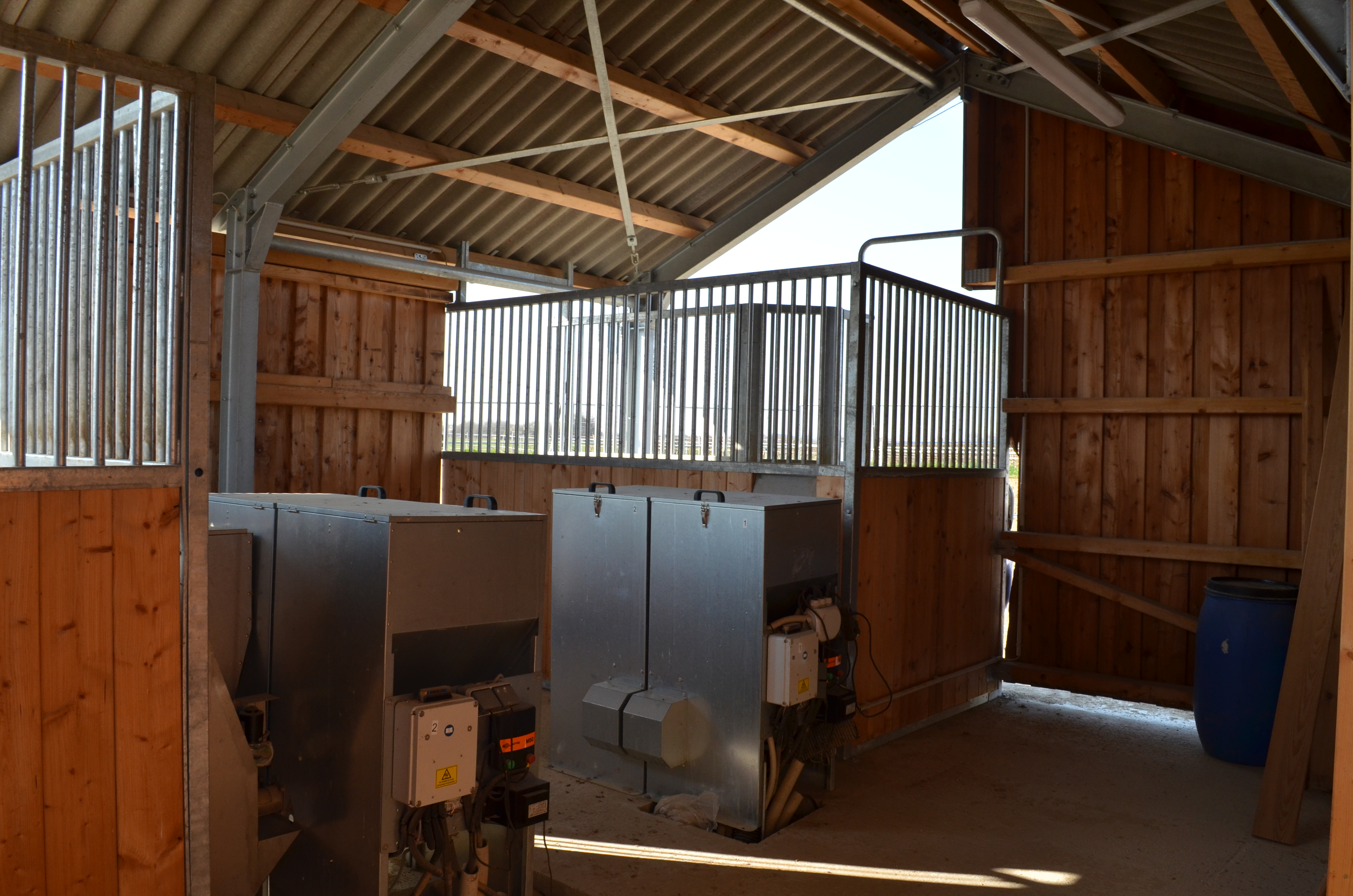 Innenaufbau der Kraftfutterstation
