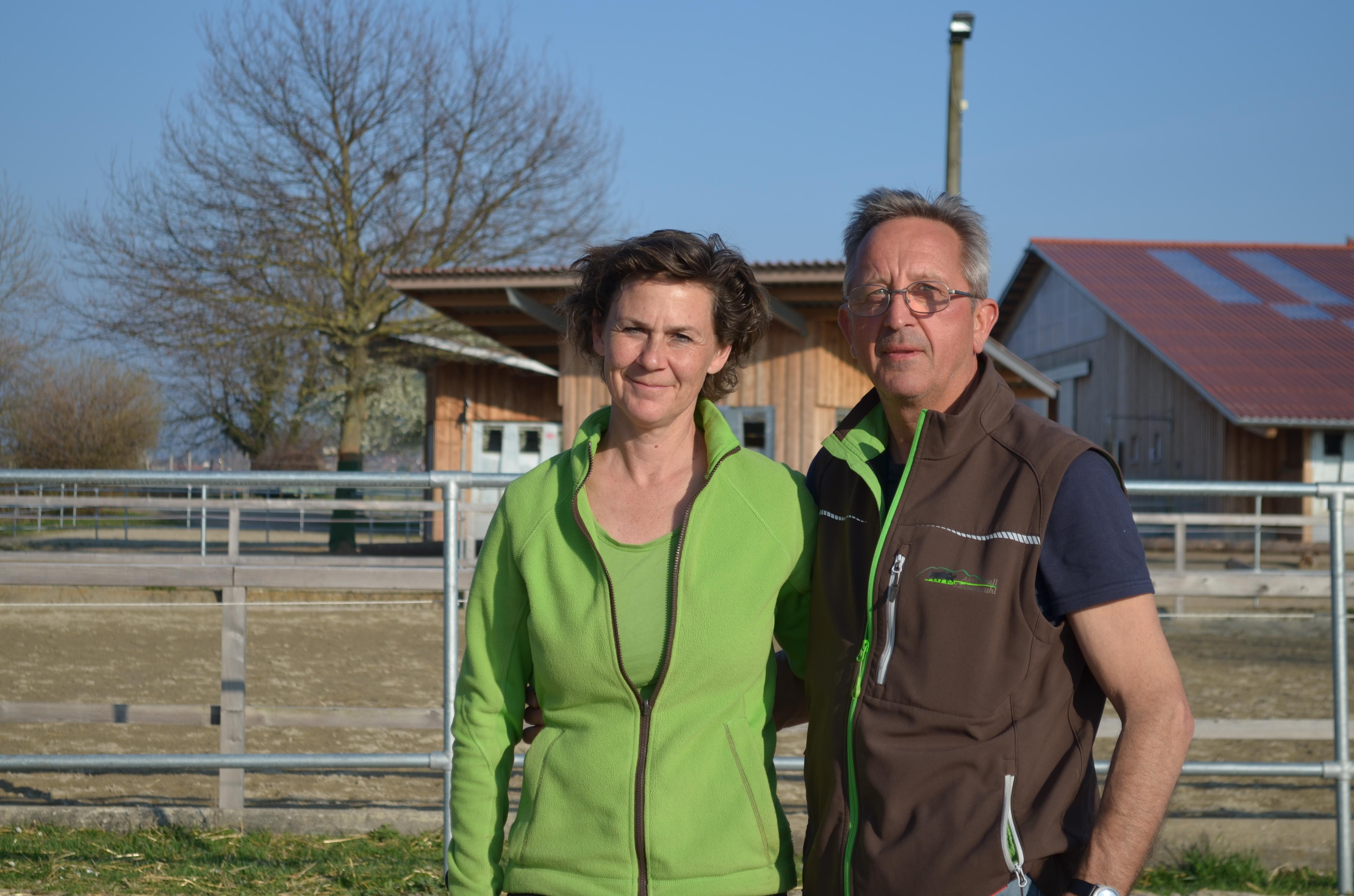 Das Betriebsleiterpaar Carolin Christ und Klaus Hirtler.